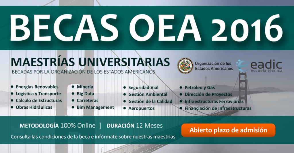 BECAS OEA-EADIC para ingeniero civil