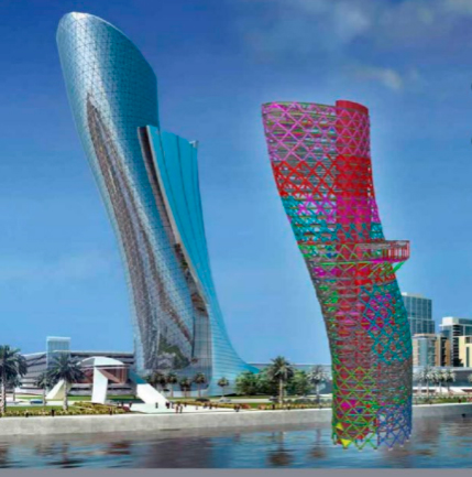 Capital Gate Tower diseñada con Tekla Structures