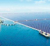 China construye la mayor planta solar flotante